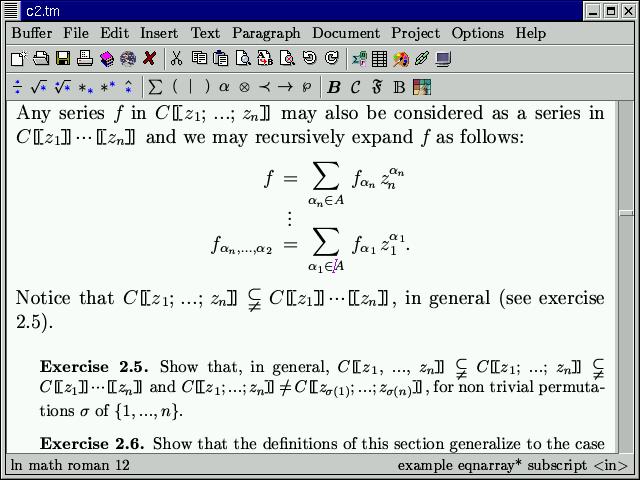 73a1f3b92 Some screenshots of TeXmacs (FSF GNU project)